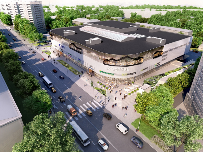 """Renovation of the """"Fifth Avenue"""" shopping center © Blank Architects"""