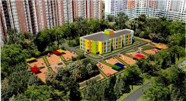 Детский сад на ул. Митинская © ЗАО «АМОС». Предоставлено пресс-службой «Москомархитектуры»