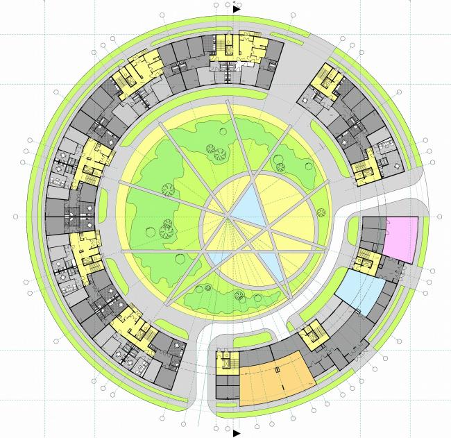 План 1 этажа Дома-кольца