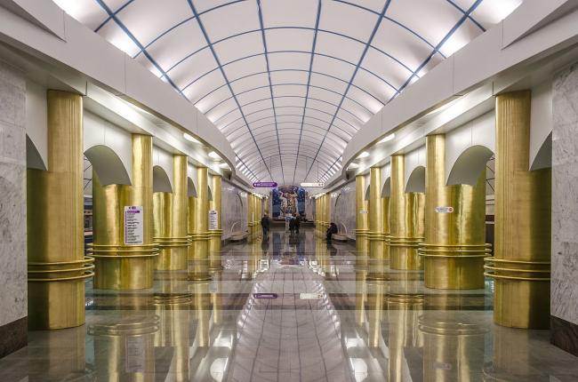 Станция метро «Международная». Фото: Alex ′Florstein′ Fedorov via Wikimedia Commons. Лицензия CC BY-SA 4.0
