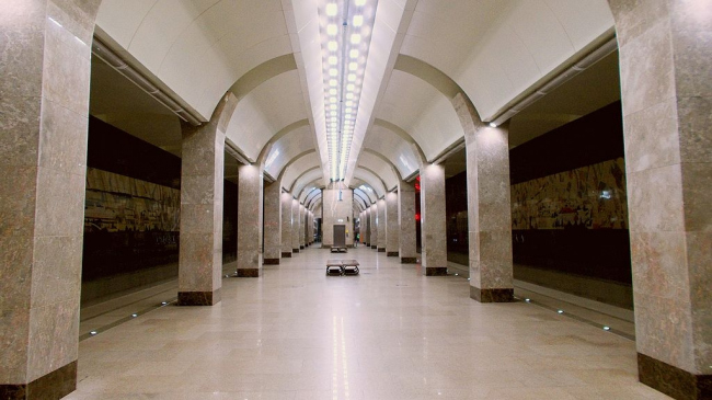 Станция метро «Горьковская». Фото: AlexTref871 via Wikimedia Commons. Лицензия CC BY-SA 3.0