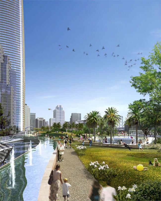 Транспортный центр Трансбэй. Сити-Парк © Pelli Clarke Pelli Architects
