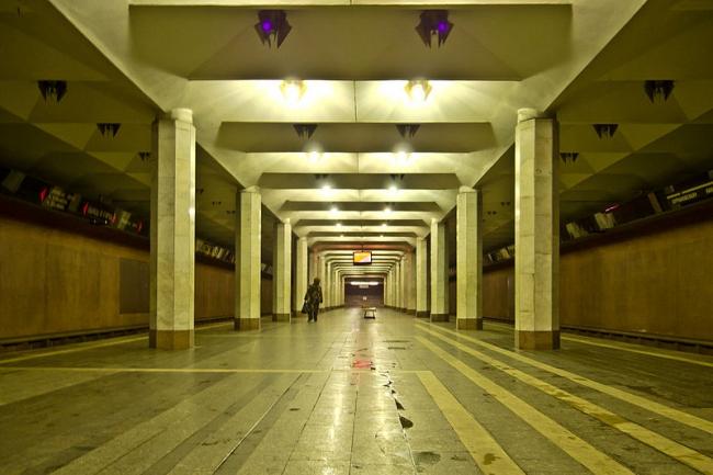 Станция метро «Бурнаковская». Фото: Florstein via Wikimedia Commons. Лицензия CC BY-SA 3.0
