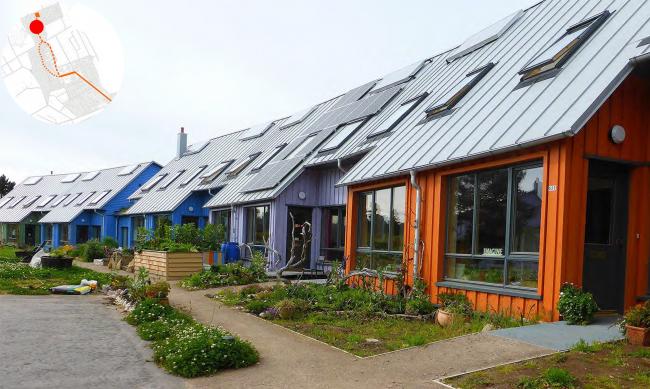 Improvement project of Staroe Drozhanoe. Eco-housing © UNK project