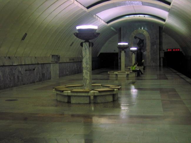 Станция метро «Динамо», Екатеринбург. Фото: Kostya Wiki via Wikimedia Commons. Лицензия CC BY-SA 2.5
