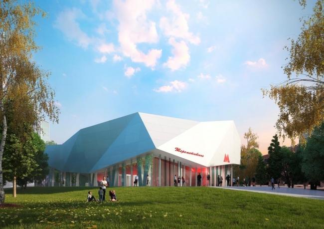 Архитектурное решение для станции «Шереметьевская». Проект консорциума Pride + Estudio A3. Изображение предоставлено Агентством стратегического развития «Центр»