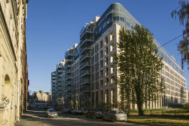 Жилой комплекс «Люмьер». Изображение предоставлено пресс-службой Союза архитекторов Санкт-Петербурга