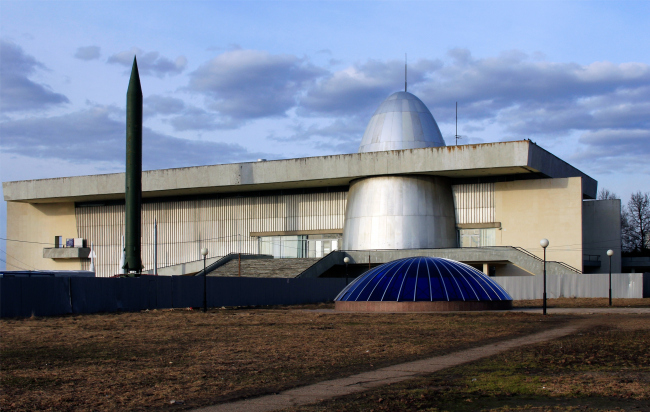 Museum of Cosmonautics in Kaluga. Architects: B.Barkhin, E.Kireev, N.Orlova, V.Strogy, K.Fomin, 1960-1967. Photograph © Julia Tarabarina, Archi.ru