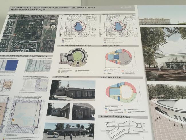 Концепция реконструкции павильона метро «Парк Победы» © «СУАРТ-проект»