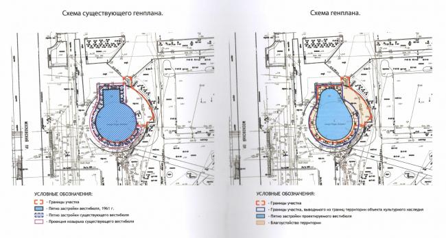 Концепция реконструкции павильона метро «Парк Победы». Генплан © «СУАРТ-проект»