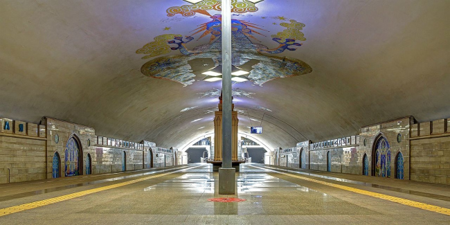 Станция метро «Кремлёвская». Фото: A.Savin via Wikimedia Commons. Лицензия Free Art License 1.3