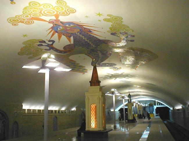 Станция метро «Кремлёвская». Фото via Wikimedia Commons. Находится в общем доступе