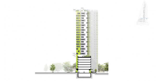 """Housing complex """"Russia. Five Capitals"""". Facade, Unit 3 © A.Len"""