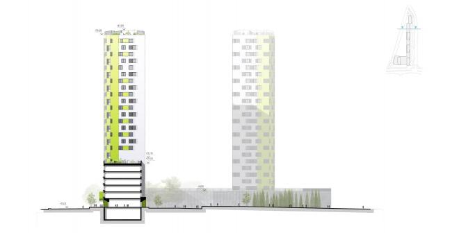 """Housing complex """"Russia. Five Capitals"""". Facade, Unit 4 © A.Len"""