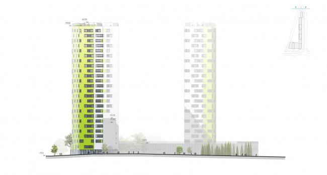 """Housing complex """"Russia. Five Capitals"""". Facade. Unit 5 © A.Len"""