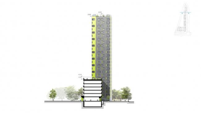 """Housing complex """"Russia. Five Capitals"""". Facade, Unit 5 © A.Len"""