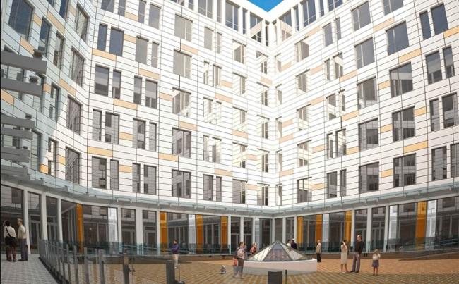 Новый корпус Морозовской детской больницы © Медпроект. Предоставлено пресс-службой «Москомархитектуры»