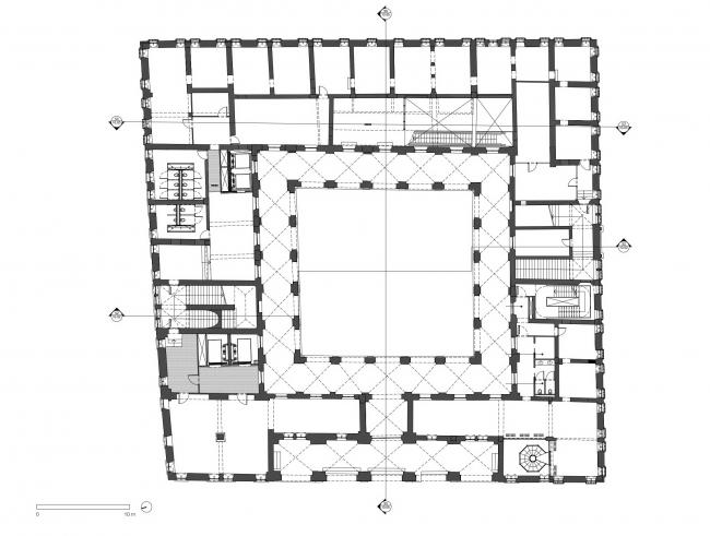 Комплекс Фондако деи Тедески – реконструкция © OMA