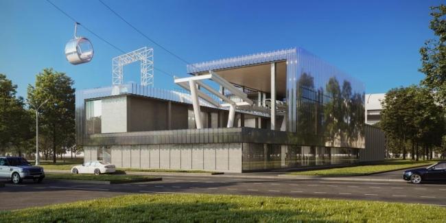 Станция канатной дороги в Лужниках © ИП Неботов. Предоставлено пресс-службой «Москомархитектуры»