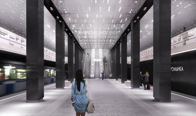 Архитектурное решение для станции «Стромынка». Проект бюро MAP Architects. Изображение предоставлено Агентством стратегического развития «Центр»