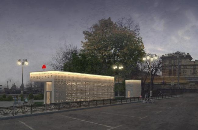 Проект станции метро «Ржевская» © Pole Design. Предоставлено пресс-службой «Москомархитектуры»