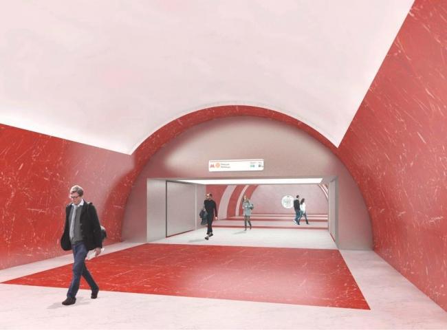 Проект станции метро «Ржевская» © ПланАР . Предоставлено пресс-службой «Москомархитектуры»