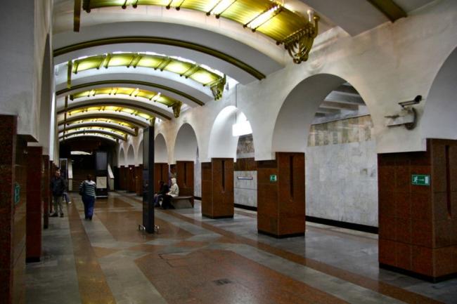 Станция метро «Московская». Фото: Mikhail (Vokabre) Shcherbakov via Wikimedia Commons. Лицензия CC BY-SA 2.0
