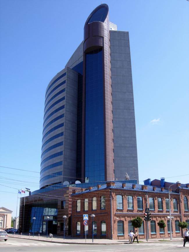 Здание «Уралсиб» в Уфе. Фото: Тара-Амингу via Wikimedia Commons. Лицензия CC0 1.0