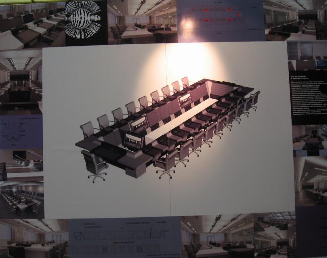 Звание «Лауреата». Стол для переговоров. Архитектурное бюро «Рудаков и архитекторы».