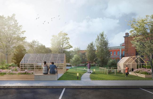 Концепция благоустройства кварталов с исторической застройкой в Волгограде. Архитектурное бюро Modul. Изображение предоставлено КБ «Стрелка»