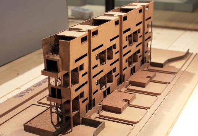 «Дом для семей трех поколений», конкурсный проект, 1978. Выставка архитектора года Никиты Явейна. Арх Москва 2017.  Фотография © Юлия Тарабарина, Архи.ру