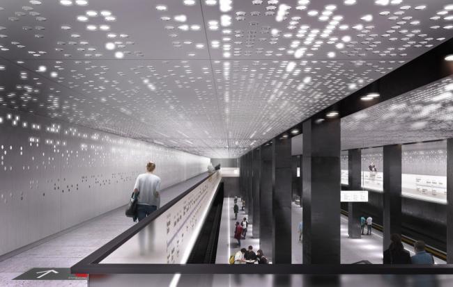Станция метро «Стромынка» © MAParchitects