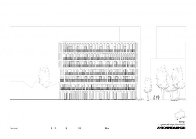 Комплекс социального жилья Arches Boulogne © Antonini Darmon architectes urbanistes