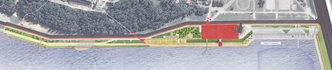Концепция благоустройства набережной реки Яченка в Калуге. Архитектурное бюро «Схема». Изображение предоставлено КБ «Стрелка»