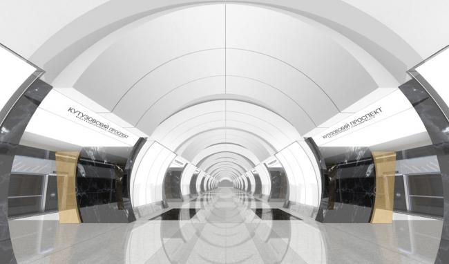 Станция метро «Дорогомиловская». Авторы: Шумаков Н.И., Орлов А.Ю., Волович В.С., ОАО «Метрогипротранс». Фото via Wikimedia Commons. Фото находится в общем доступе