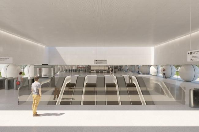 Станция метро «Шереметьевская» © AI Architects. Предоставлено пресс-службой «Москомархитектуры»