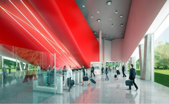 Проект станции метро «Шереметьевская» © Pride + Estudio A3. Предоставлено пресс-службой «Москомархитектуры»