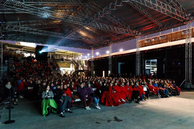 Российская премьера фильма «Рем» в Институте «Стрелка» 21 мая. Фото © Mikhail Goldenkov / Strelka Institute
