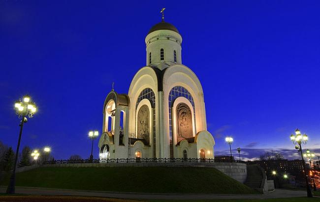 Храм Георгия Победоносца на Поклонной горе. Фото: Sergey Korovkin 84 via Wikimedia Commons. Лицензия  CC BY-SA 3.0