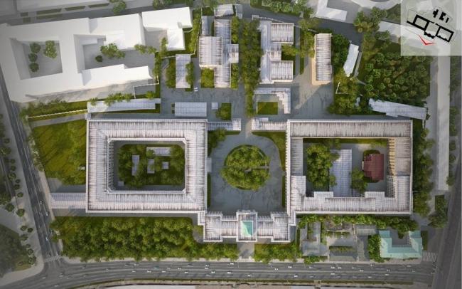 Концепция развития Военной Академии на Москворецкой набережной © МКА