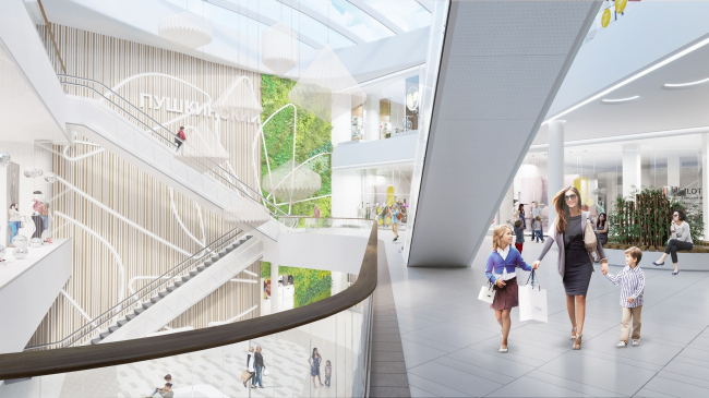 """Pushkinsky"" shopping mall © Blank Architects"