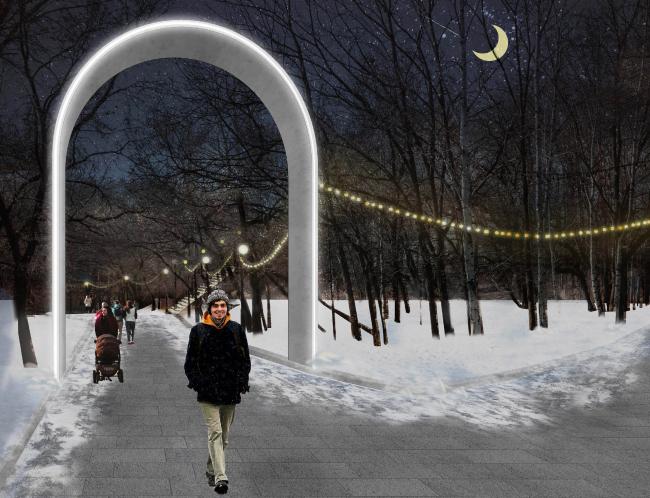 Концепция благоустройства парка Динамо в Хабаровске. buromoscow. Изображение предоставлено КБ «Стрелка»