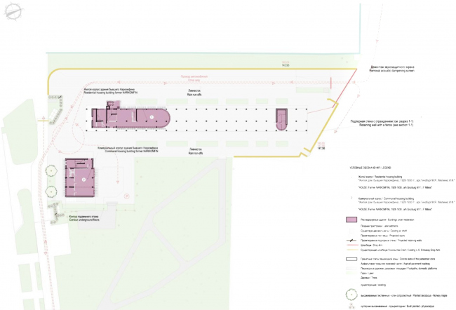 """Project of restoration and adaptation of the cultural heritage site """"Narkomfin Building"""" (2015-2017) © Ginsburg Architects"""