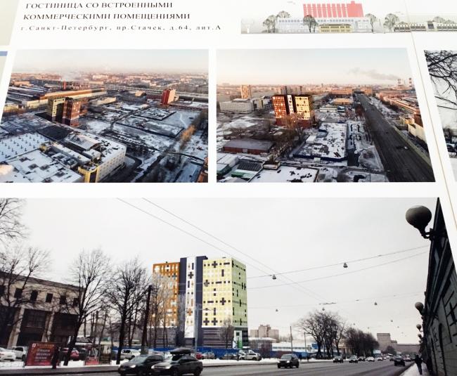 Проект гостиницы по адресу: Санкт-Петербург, проспект Стачек, дом 64, литера А © ЛЕННИИПРОЕКТ / пересъемка с планшета Ирины Бембель