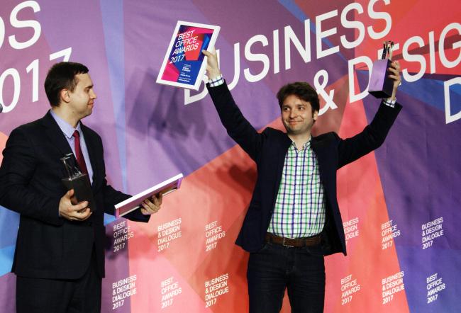 Церемония награждения победителей премии Best Office Awards. Денис Кувшинников. Фотография © Дмитрий Павликов