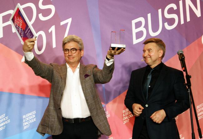Церемония награждения победителей премии Best Office Awards. Борис Левянт. Фотография © Дмитрий Павликов