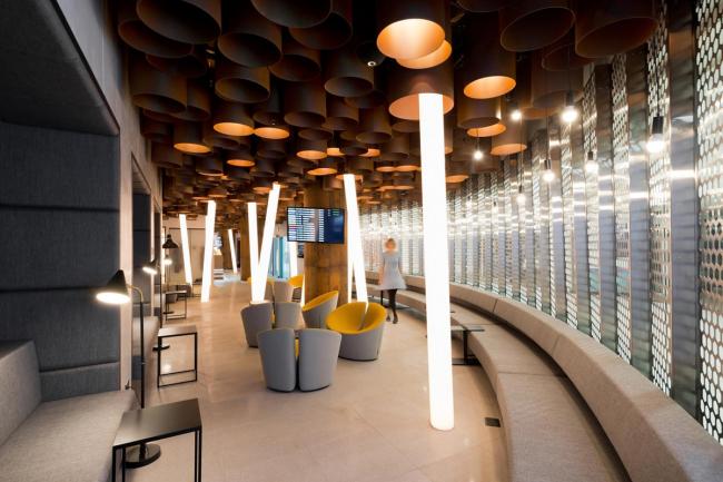 Аэропорт Стригино, бизнес-зал © Архитектурное бюро Nefa Architeсts