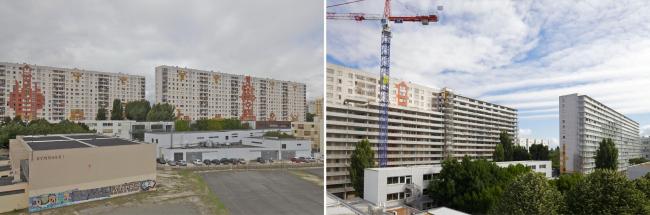 Реконструкция корпусов G, H, I комплекса Cité du Grand Parc © Philippe Ruault