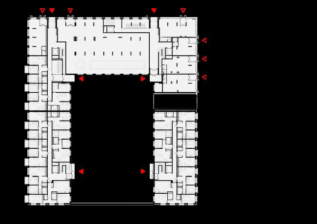 Башня и квартал на Якушева. Квартал. План 1 этажа © DROM