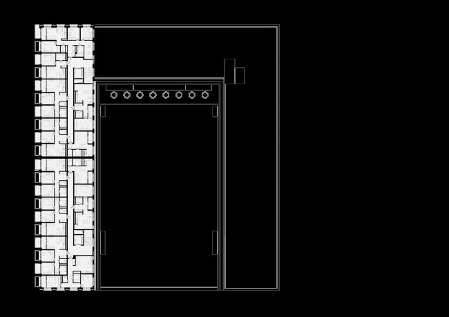 Башня и квартал на Якушева. Квартал. План 6-9 этажей © DROM